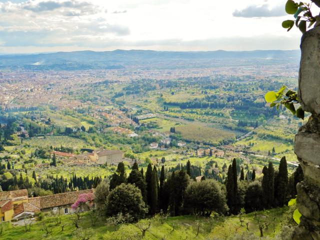 1 フィエーソレからフィレンツェを眺望